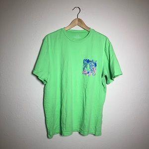 Vineyard Vines Green Floral Cotton Tee Shirt